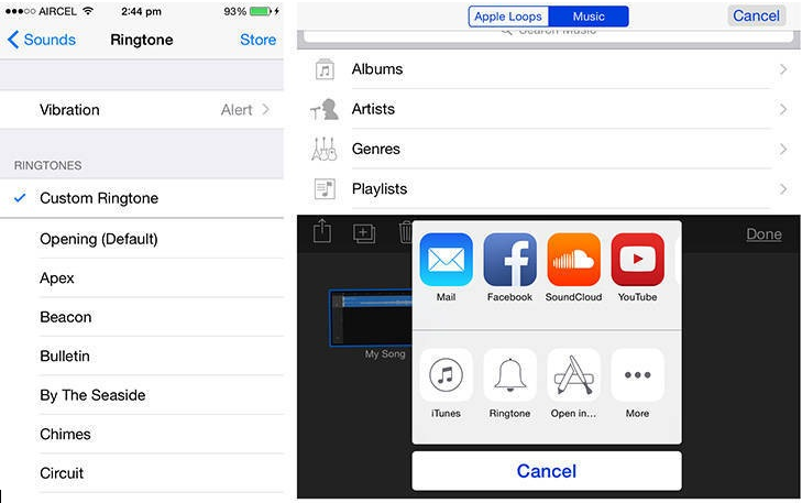 Trick to Set custom Ringtone on iPhone without computer and iTunes