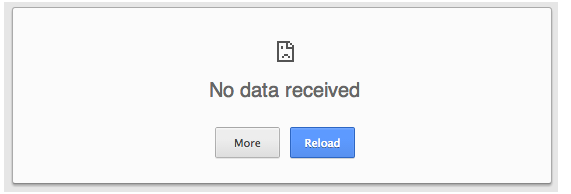 Fix no data received Error Easily In Google Chrome